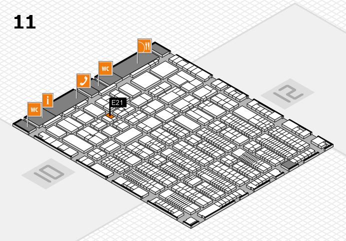 ProWein 2017 hall map (Hall 11): stand E21