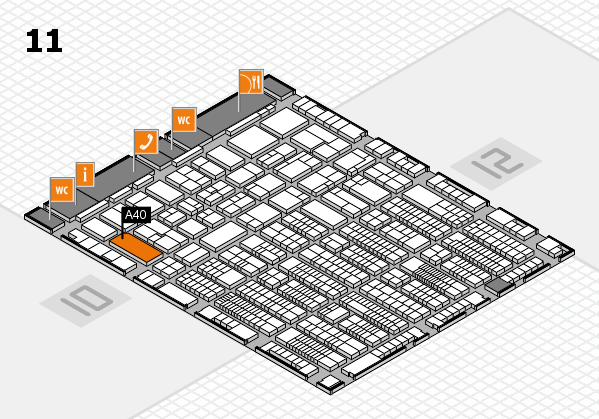 ProWein 2017 hall map (Hall 11): stand A40