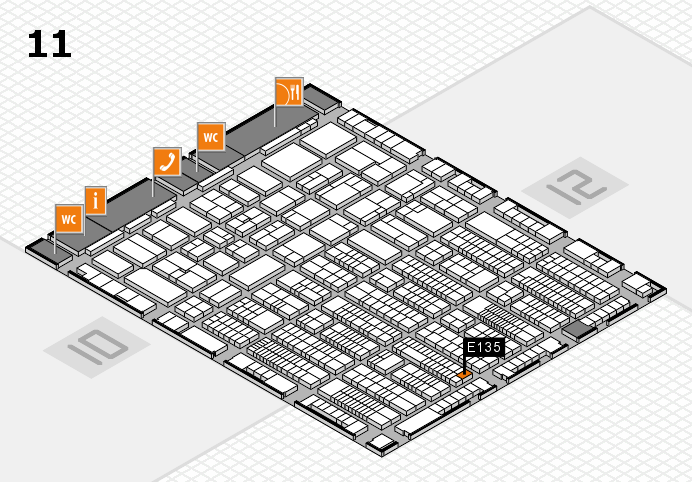 ProWein 2017 hall map (Hall 11): stand E135