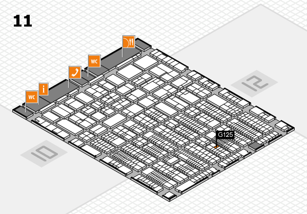 ProWein 2017 hall map (Hall 11): stand G125