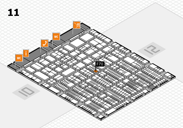 ProWein 2017 hall map (Hall 11): stand F70