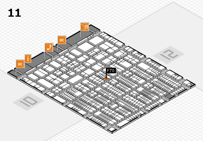 ProWein 2017 Hallenplan (Halle 11): Stand F70