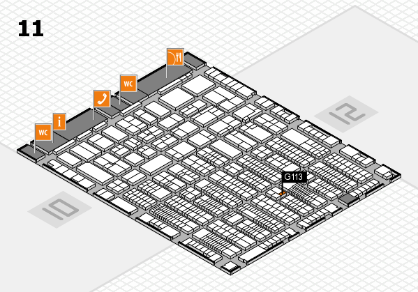 ProWein 2017 hall map (Hall 11): stand G113