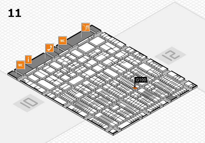 ProWein 2017 hall map (Hall 11): stand G100