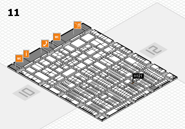 ProWein 2017 hall map (Hall 11): stand H121