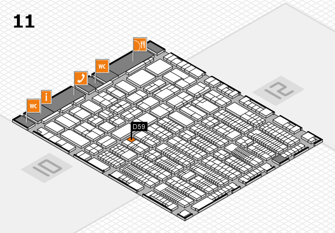 ProWein 2017 hall map (Hall 11): stand D59