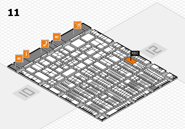 ProWein 2017 hall map (Hall 11): stand K80