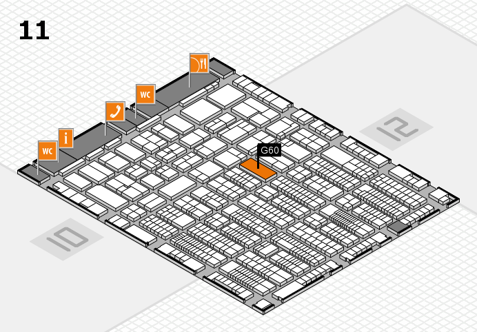 ProWein 2017 hall map (Hall 11): stand G60