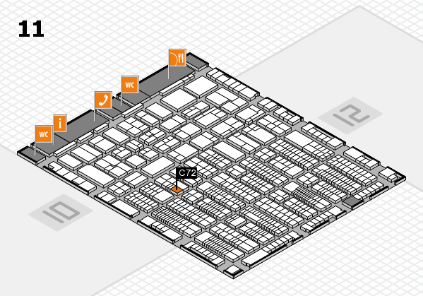 ProWein 2017 hall map (Hall 11): stand C72