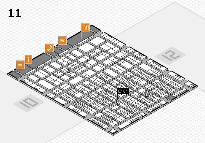 ProWein 2017 hall map (Hall 11): stand E101