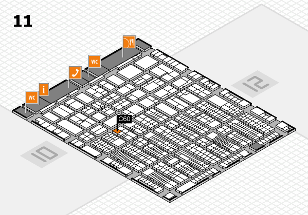 ProWein 2017 hall map (Hall 11): stand C60