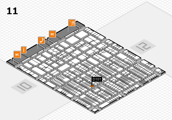 ProWein 2017 hall map (Hall 11): stand D101