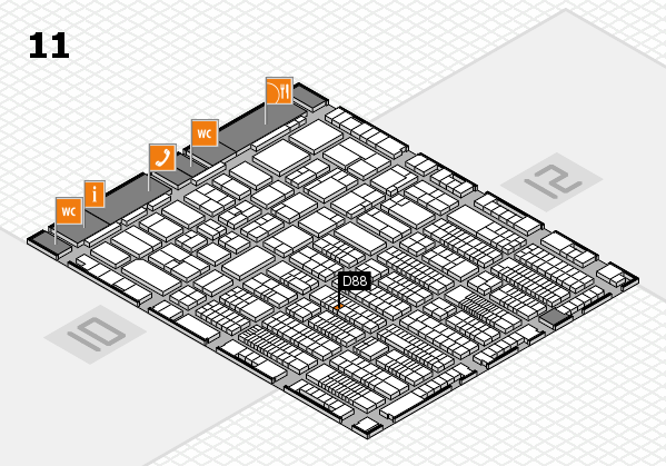 ProWein 2017 hall map (Hall 11): stand D88