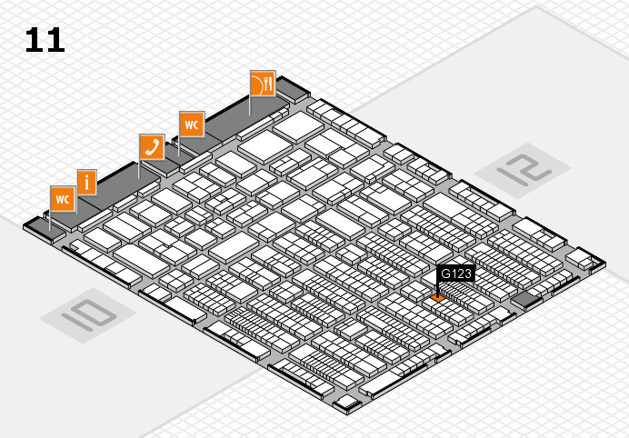 ProWein 2017 hall map (Hall 11): stand G123
