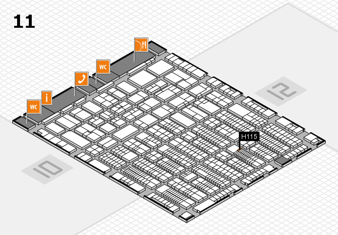ProWein 2017 hall map (Hall 11): stand H115