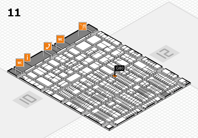 ProWein 2017 hall map (Hall 11): stand G80