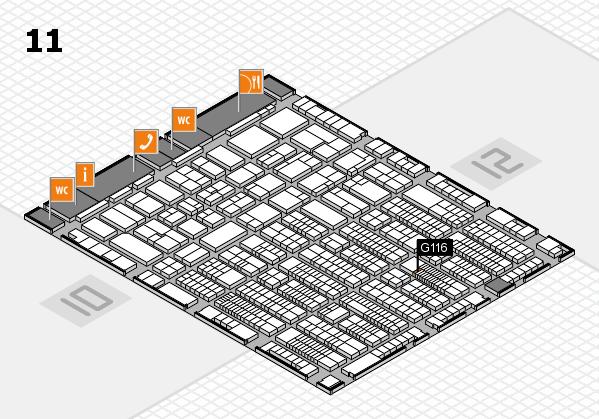 ProWein 2017 Hallenplan (Halle 11): Stand G116
