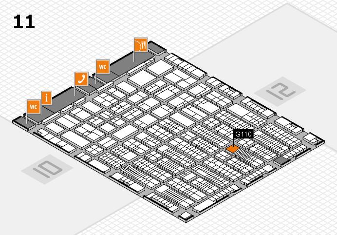 ProWein 2017 Hallenplan (Halle 11): Stand G110