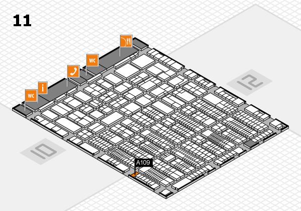 ProWein 2017 Hallenplan (Halle 11): Stand A109