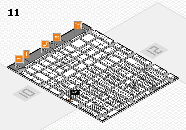 ProWein 2017 hall map (Hall 11): stand A91