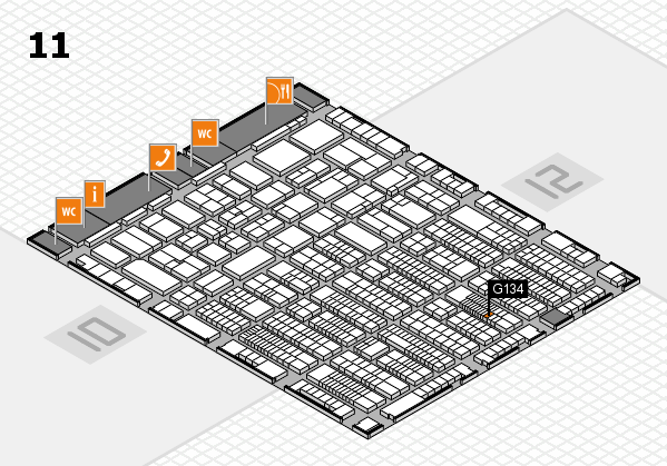 ProWein 2017 hall map (Hall 11): stand G134