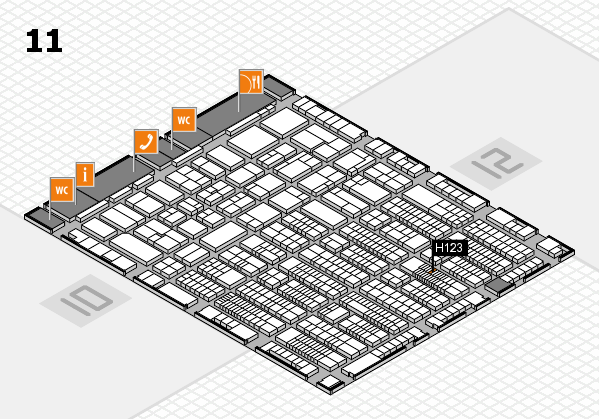 ProWein 2017 hall map (Hall 11): stand H123