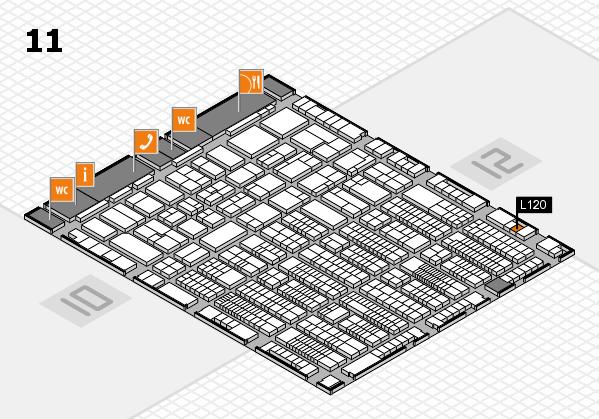 ProWein 2017 Hallenplan (Halle 11): Stand L120