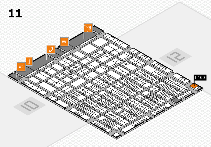 ProWein 2017 hall map (Hall 11): stand L160