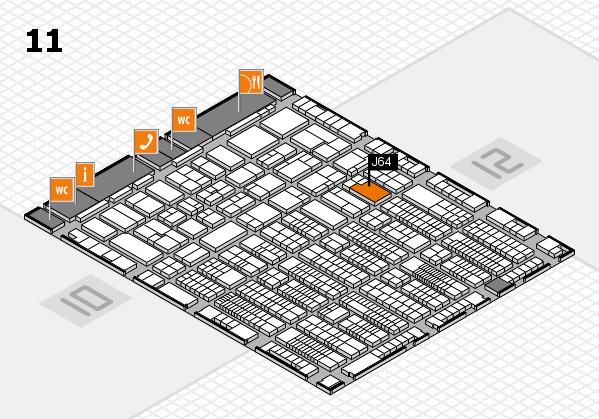 ProWein 2017 Hallenplan (Halle 11): Stand J64