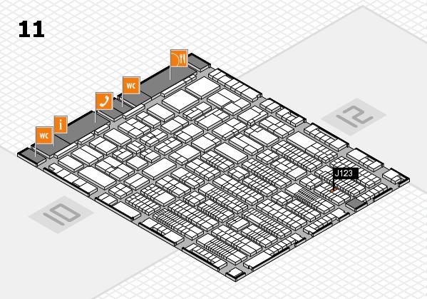ProWein 2017 Hallenplan (Halle 11): Stand J123