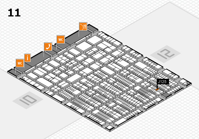 ProWein 2017 hall map (Hall 11): stand J125