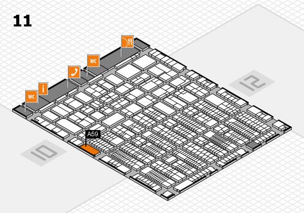ProWein 2017 Hallenplan (Halle 11): Stand A59