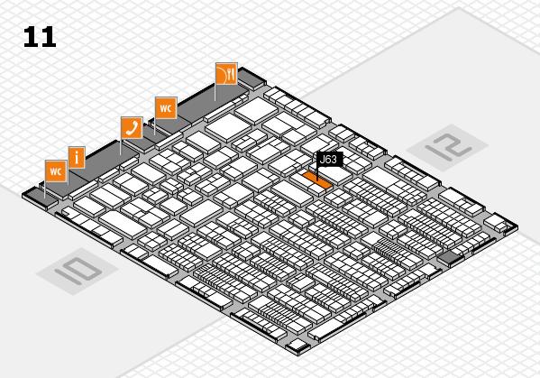 ProWein 2017 Hallenplan (Halle 11): Stand J63
