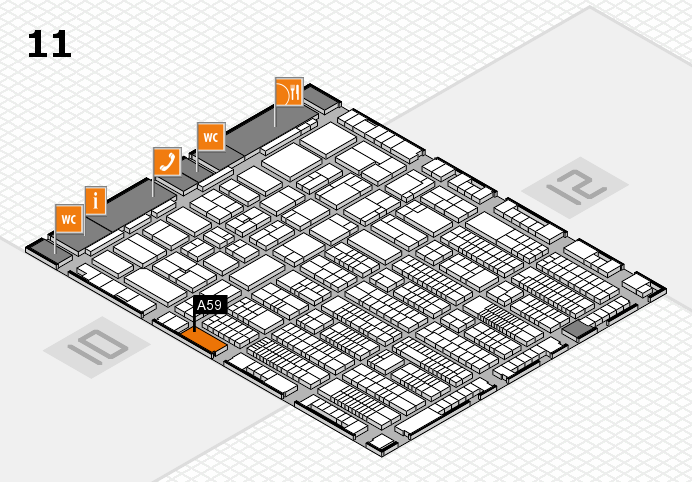 ProWein 2017 hall map (Hall 11): stand A59
