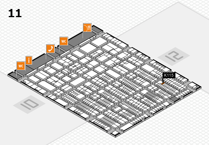 ProWein 2017 hall map (Hall 11): stand K115
