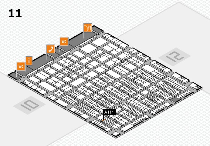 ProWein 2017 hall map (Hall 11): stand A114