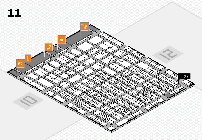 ProWein 2017 hall map (Hall 11): stand L129