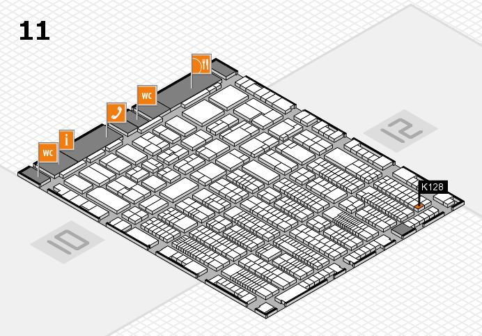 ProWein 2017 hall map (Hall 11): stand K128