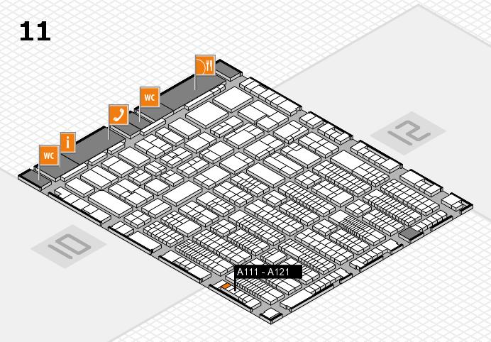 ProWein 2017 Hallenplan (Halle 11): Stand A111 - A121