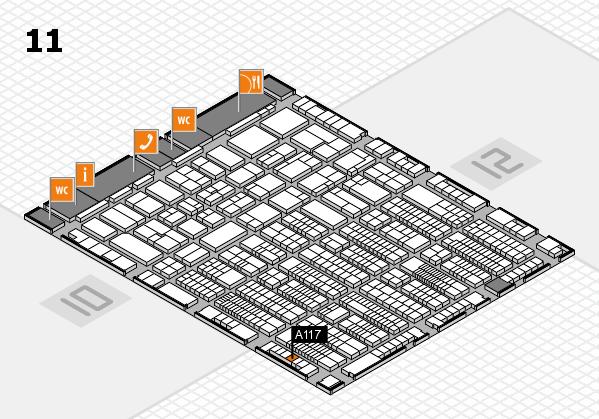 ProWein 2017 Hallenplan (Halle 11): Stand A117