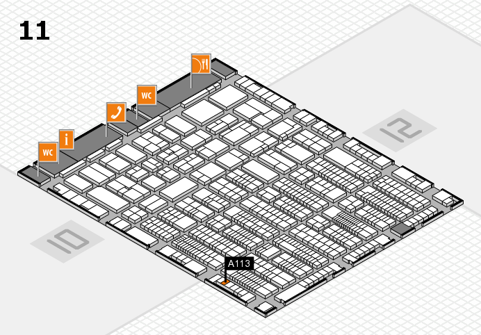 ProWein 2017 hall map (Hall 11): stand A113