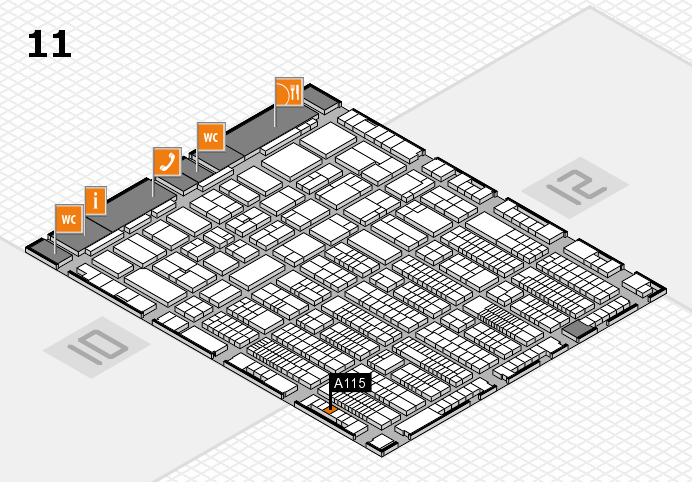 ProWein 2017 hall map (Hall 11): stand A115