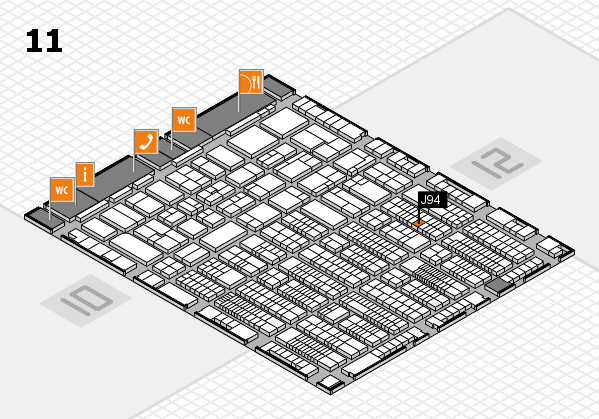 ProWein 2017 hall map (Hall 11): stand J94