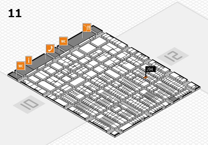 ProWein 2017 Hallenplan (Halle 11): Stand J94