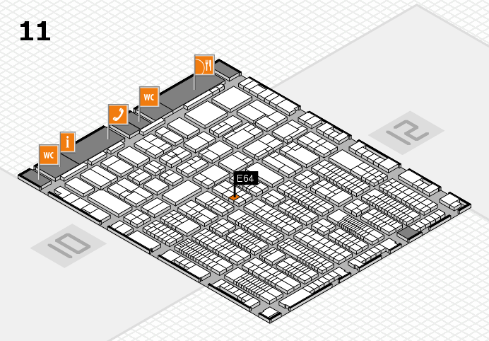 ProWein 2017 hall map (Hall 11): stand E64