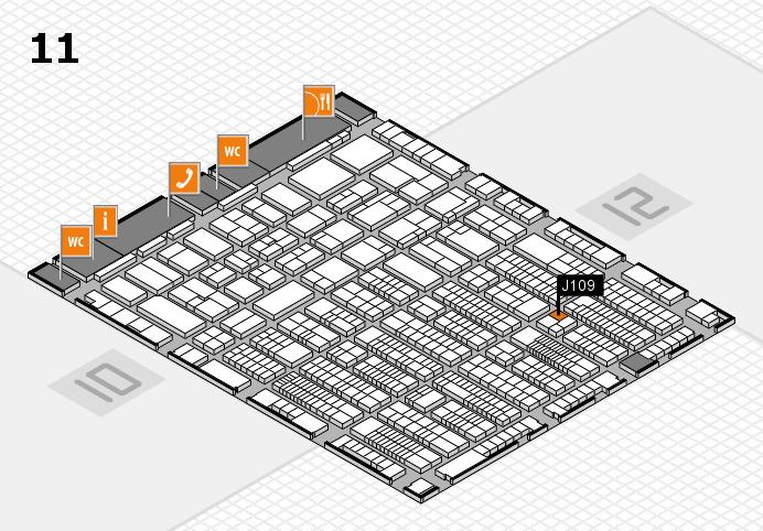 ProWein 2017 hall map (Hall 11): stand J109
