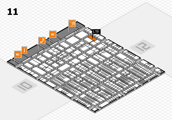 ProWein 2017 hall map (Hall 11): stand L19