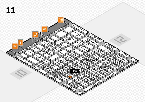 ProWein 2017 hall map (Hall 11): stand B102