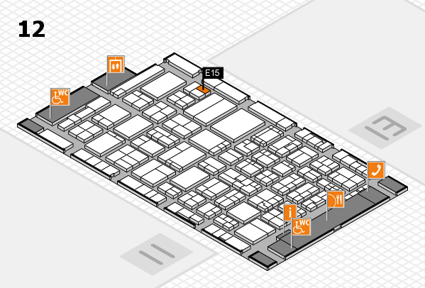 ProWein 2017 hall map (Hall 12): stand E15