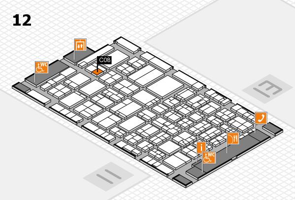 ProWein 2017 Hallenplan (Halle 12): Stand C08